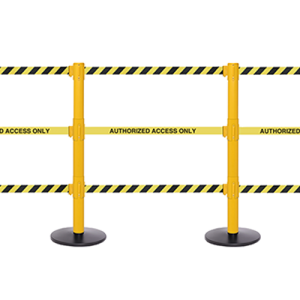 SafetyPro Triple Belt Stanchion with Three Retractable Belts