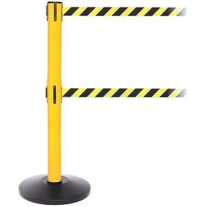 Safety Pro Twin Dual Line Retractable Belt Barrier