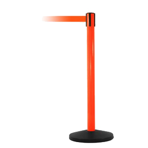 SafetyPro 250 Orange Safety Retractable Belt Stanchion Barrier